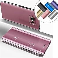 6c64bc0c040 COTDINFOR Samsung Galaxy S6 Edge Plus Funda Espejo Ultra Slim Ligero Flip  Funda Clear View Standing