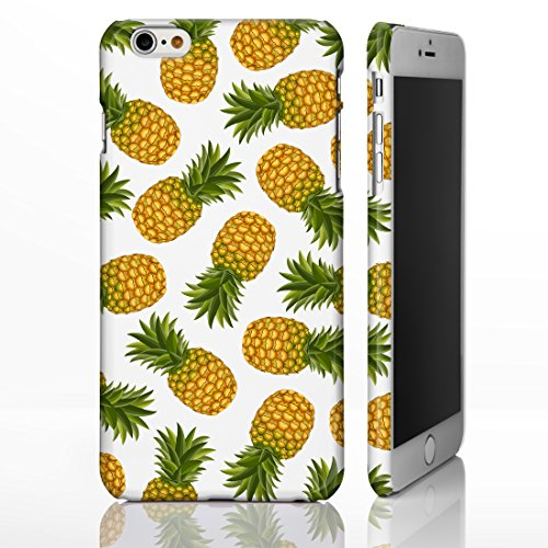 iCaseDesigner Coque colorée pour iPhone Motif fruits , plastique, 4: Pineapple on Yellow Polka Dots, iPhone 6 / 6S - Slim Case 7: Pineapples on White