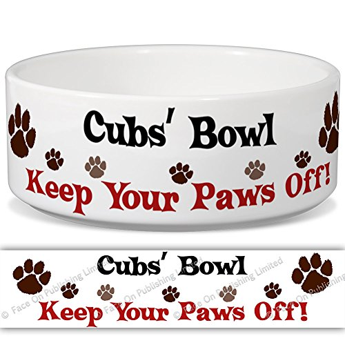 cubs-bowl-keep-your-paws-off-personalised-name-ceramic-pet-food-bowl-155mm-x-60mm-small