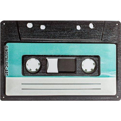 Nostalgic-Art 22195 Plaque en métal Cassette 20 x 30 cm