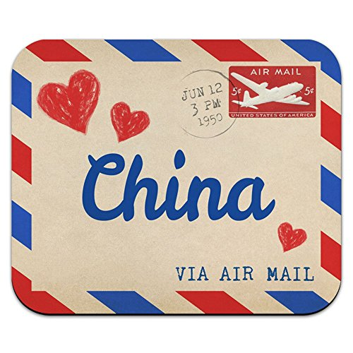 graphics-and-more-air-mail-postcard-love-for-china-mouse-pad-mousepad
