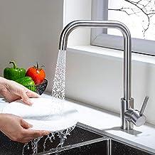 Umi. Rubinetto girevole Essentials 360 ° con 2 modalità di erogazione Rubinetto da cucina monocomando lavello rubinetto cucina