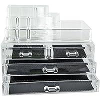 Feibrand Makeup Organiser trasparente, 4 cassetti, 2
