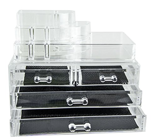 feibrand-organiseur-transparent-4-tiroirs-2-couche