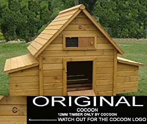 Cocoon Chicken Coop Hen House Poultry Ark Nest Box New - With 4 Nest Boxes & Cleaning Tray - 4 Standard Or 6 Small Birds (2016 Model)