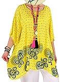 Photo de Charleselie94® - Tunique Grande Taille Longue été Jaune Regine Jaune par Charleselie 94 Since 1994 Prêt à porter