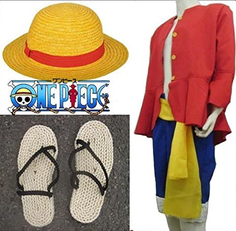 L size two years later Cosplay Costume clothes straw hat of one piece ONE PIECE Luffy (japan import)