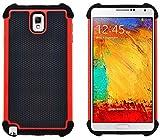 G-Shield Coque Samsung Galaxy Note 3, Étui Housse de Protection [Anti-Choc] [Résistance Extrême] Coque de Protection Hybride Pour Samsung Galaxy Note 3 - Rouge