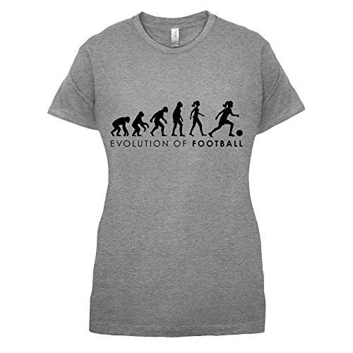 Evolution of Woman - Fussball - Damen T-Shirt - 14 Farben Sportlich Grau