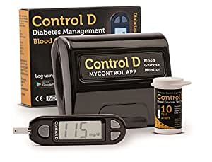 Control D Blood Glucose Monitor (Vial of 10 Strips)