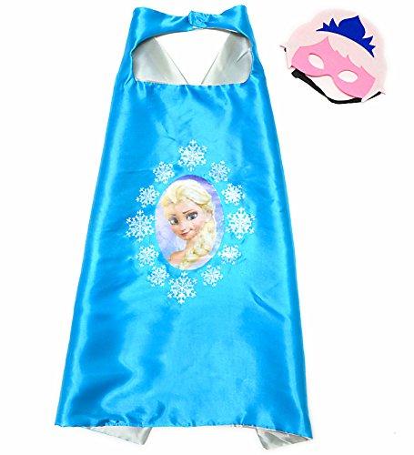 Frozen Elsa Superhelden-Kostüme für Kinder-Cape und Maske-Spielsachen für Jungen und Mädchen-Kostüm für Kinder von 3 bis 10 Jahre-für Karneval, Fasching oder Motto-Partys!-King Mungo-KMSC002 (Minion Kostüme Mädchen)