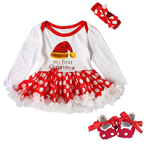 Newborn Christmas Dresses 0 3 Months.Newborn Infant Baby Girls Toddlers Kids My 1st Christmas