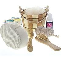 Dekorative Geschenksets für Bad oder Sauna mit Badezubehör, Saunazubehör, Kosmetex Bade- und Pflegeset, Set 2