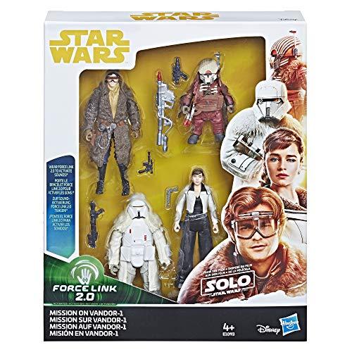 STAR WARS-Force Link 2.0Mission on 'vandor-13.75Figure Set Hasbro e1093-4Figuras