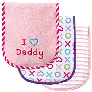 Luvable Friends 3 Count I Love Mommy and Daddy Baby Burp Cloths, Pink Daddy Kids, Infant, Child, Baby Products bébé, nourrisson, enfant, jouet