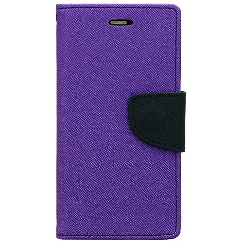 SCHOFIC Premium Fancy Wallet Diary Faux Leather Mobile Flip Case Cover [Pouch] with Card Slots [Pockets], Stand View and Magnetic Strap [Locking] for Motorola Moto G Turbo/Moto G3- Pretty Purple