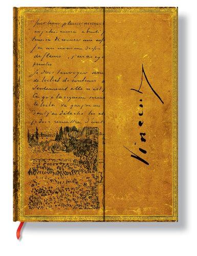 Faszinierende Handschriften Van Gogh Skizze in einem Brief - Faux Leder - Notizbuch Groß Liniert - Paperblanks -