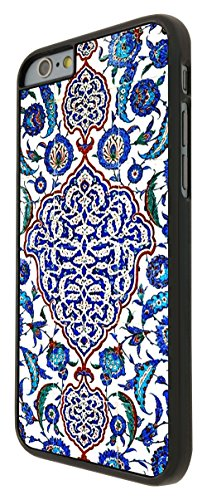 073 - Vintage Shabby Chic Paisly Middle East Art Coque iPhone 6 Plus/iPhone 6 Plus S 5.5 Design Fashion Trend Case Back Cover Métal et Plastique - Noir