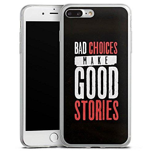 Apple iPhone 8 Slim Case Silikon Hülle Schutzhülle Sprüche Humor Statement Silikon Slim Case transparent