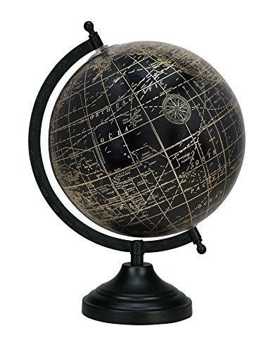 Rotierende Tischglobus Schwarz Farbe Globe mere Ozean Geographische Erde
