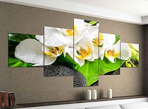 Acrylglasbilder 5 Teilig 200x100cm Wellness Yin Yang Orchidee Feng Shui Druck Acrylbild Acryl Acrylglas Bilder Bild 14F579