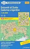 25 Dolomiti Di Zoldo, Cadorine e Agordine, 1:25.000 topographische Wander-, Rad-und Schitourenkarte (Dolomiten, Alpen)