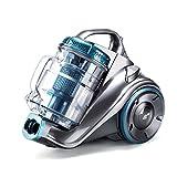 PUPPYOO WP9002F beutelloser Bodenstaubsauger (800 W, inkl. 3 perfekte Düsen mit Saugkraft-Regulierung, 7,5 m Aktionsradius, 2,0 L Staubbehälter, waschbarer HEPA Filter) Blau & Grau