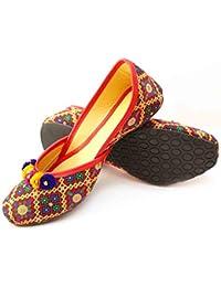 DKN Industries Presents Designer Jaipuri Silk Mojari Ethnic Wear Jutti Rajasthani Bellies for Women and Girls