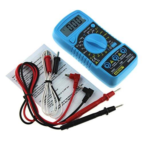 Ofen Bildschirm (sunnymi Digital Thermometer Multimeter 3 1/2 digitaler LCD Bildschirm/Gleichstrom Wechselstrom Widerstand Diode Temperatur Tester/Hintergrund Licht Funktion (Blau))