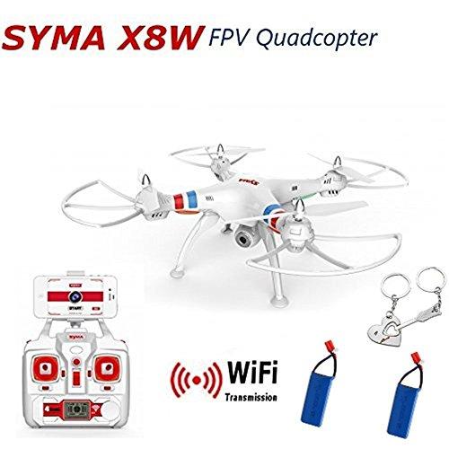 Preisvergleich Produktbild Onebird Syma X8W WiFi FPV 2.4G 6Axis Gyro 4CH RTF RC Quadcopter mit 0.3MP HD Kamera mit 2Batterien