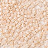 Xinqu Rocailles for perlen schmuck undurchsichtig Regenbogen orange AB DB161 1,6x1,3 MM 11/0 3 Gramm/los über 600 stücke (Color : DB204)