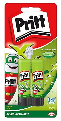 Pritt Klebestift 2 x 20 g auf Blisterkarte, grün