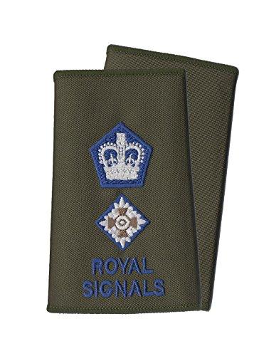 CL Distribution Paar Blau auf Olive Grün Royal Signale Rank Folien/Schulterklappen-Lieutenant Colonel -