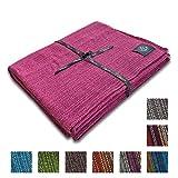 Craft Story Decke Yara I Uni grau aus 100% Baumwolle I Tagesdecke I Sofa-Decke I Überwurf I Bedspread I Plaid I 170 x 220cm