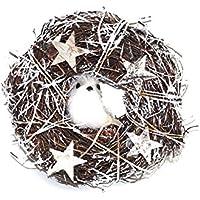 AC-Déco Corona de Navidad Colgante de–Animales y Manzanas de Pins