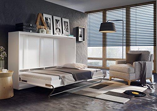 Schrankbett CONCEPT PRO Wandklappbett - Horizontal (140x200 cm, weiß matt) - 2