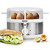 Duronic EB35 Electric 7 Egg Boiler Steamer Cooker with Buzzer - Soft  