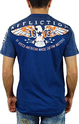 Affliction T-Shirt Fast Time Blau Blau