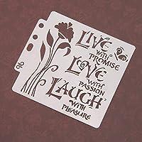 BINGHONG3 Love Stencils Template Painting Scrapbooking Embossing Stamping Album Card DIY