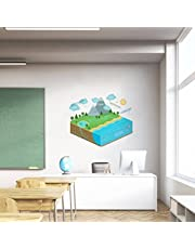 Rawpockets 'Water Cycle Diagram for Kid's Learning' Wall Sticker (PVC Vinyl, 0.99 cm x 60 cm x 40 cm)
