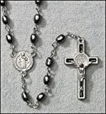 """#7: Black St. Benedict Oval Black Rosary. 5 X 7 Oval Bead Size: 20 L, 1 1âÂÂÃ'Â""""2 Crucifix. Lay Catholics Are Not Permitted to Perform Exorcisms but They Can Use the Saint Benedict Medal, Holy Water, the Crucifix, and Other Sacramentals to Ward Off Evil. Catholic Saint Benedict Patron Saint of Kidney Disease, Poison Sufferers, Students, Poisoning, School Children, Homeless, Monks. by AT001"""