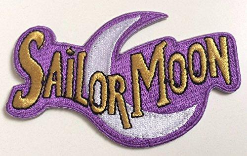 Sailor Moon Logo Patch 10cm Embroidered Iron on Badge Aufnäher Kostüm Magic Retro Cosplay DIY Motiv Collectible Fancy Kleid Retro (Kostüme Black Cat Diy)