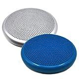 FOURSCOM® Ballsitzkissen Balancekissen Fitnesskissen Massage Discs 33cm blau/grau