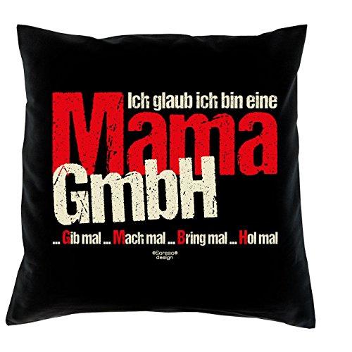 Muttertagsgeschenk Geburtstagsgeschenk Frauen Mutter :-: Ich Glaub ich Bin eine Mama GmbH :-: Geschenkidee Sofakissen Kissen mit Füllung Farbe: schwarz -