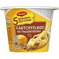 MAGGI 5 Minuten Terrine Kartoffelbrei: Fleischklößchen, leckeres Fertiggericht mit Rindfleisch, Instant Kartoffel-Püree, Kartoffel-Snack, 8er Pack (8 x 46 g)