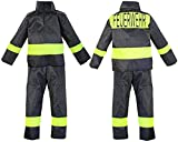 Feuerwehr-Kostüm Kinder Feuerwehr-Mann Fasching Karneval Kinder-Kostüm Gr. 8 116-122 Waschbar Polyester Schadstoff geprüft