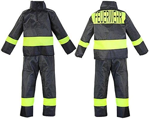 Helden Kostüm Nerd Super (Kinder Feuerwehr Kostüm Uniform Hosa Jacke Grösse 10)