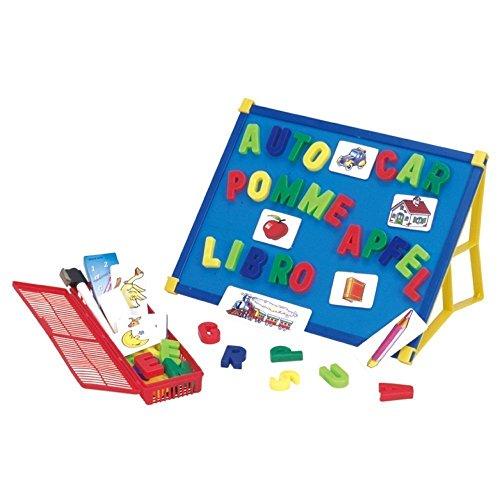 Beby 2-in-1 lettere doppio lavagna magnetica con motivo Spielzeug piano del tavolo cavalletto Silded cover per bambini in età prescolare-per la camera dei bambini imparare, Poster educativo con