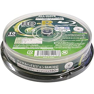 ALL-WAYS BD-R 25GB 4X Speed Printable Blu-Ray Disc - 10 Pack Spindle (japan import)