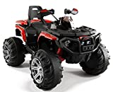 Toy House Commando 4-Wheel ATV Rechargeable Battery Operated Ride-On for Kids, Red